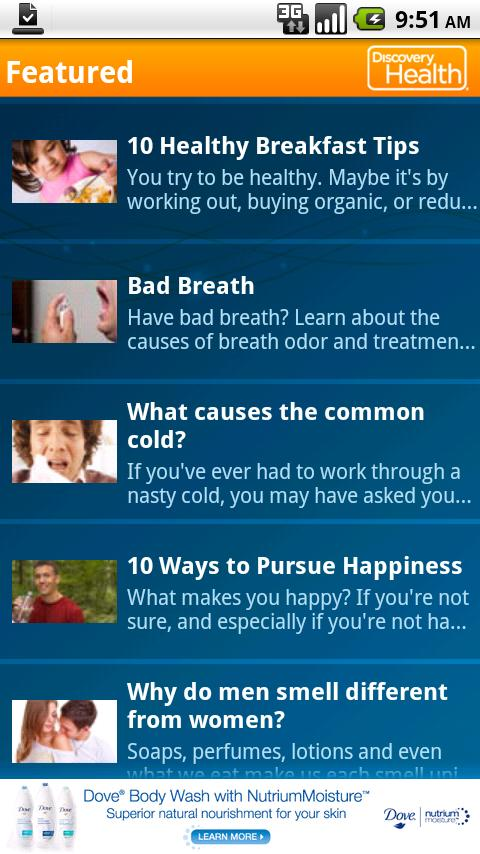 Discovery Health Android Health
