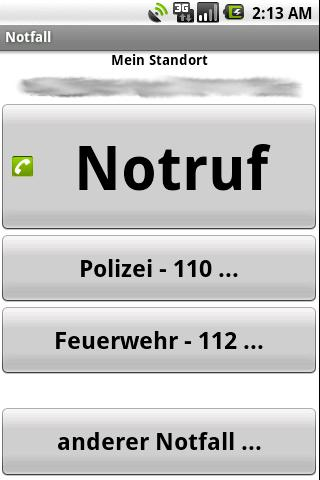 Mobile Notruf-App Android Social