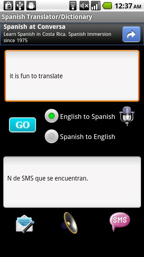 Spanish Translator Android Books & Reference