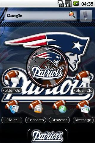 New England Patriots themes Android Personalization