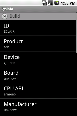 Sysinfo Android Tools