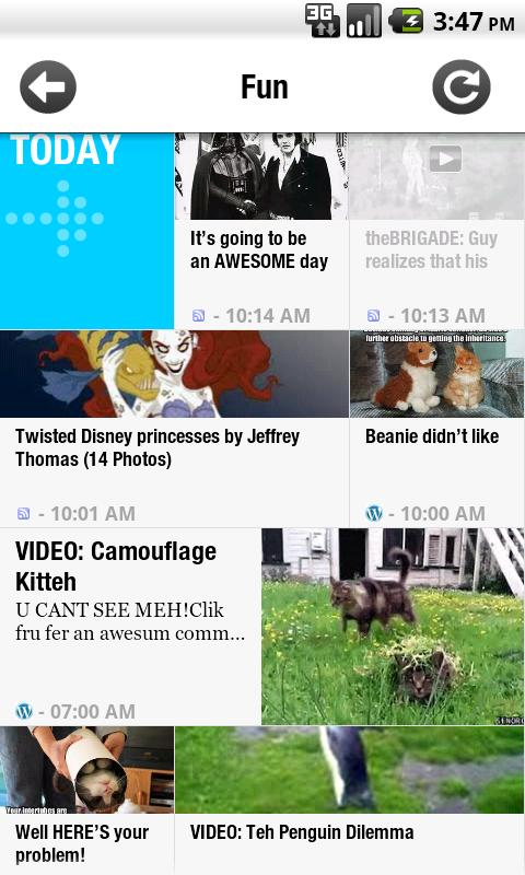 Slide Reader Android News & Weather
