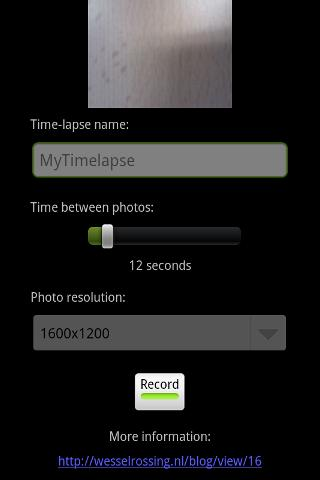 Tina Time-lapse Android Tools
