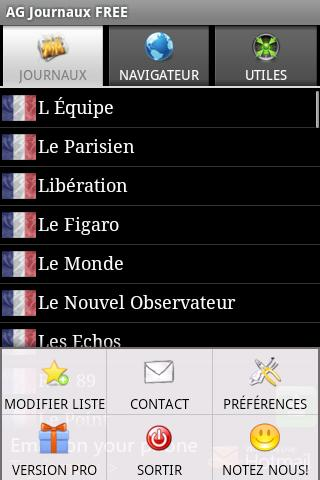 AG French Newspapers FREE Android News & Weather