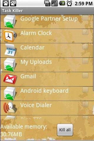 Task Killer lite Android Tools