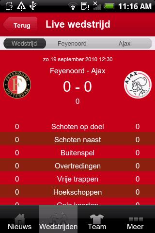 Ajax Mobile Android Sports