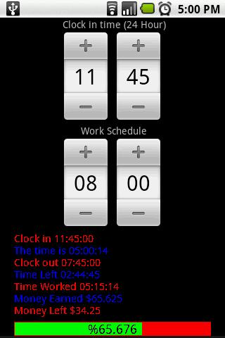 Work Clock Android Tools