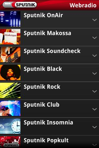 Sputnik Webradio Android Entertainment