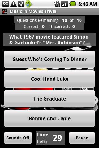 Music in Movies Trivia Android Entertainment