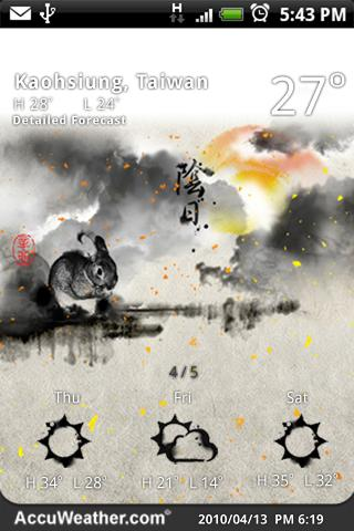 9s-Weather Theme+ ZodiacRabbit Android Weather
