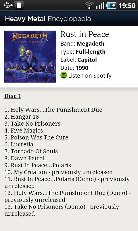 Heavy Metal Encyclopedia Android Music & Audio