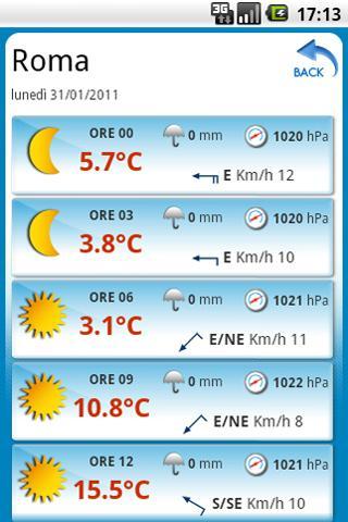 Tempo Italia, Previsioni Meteo Android Weather