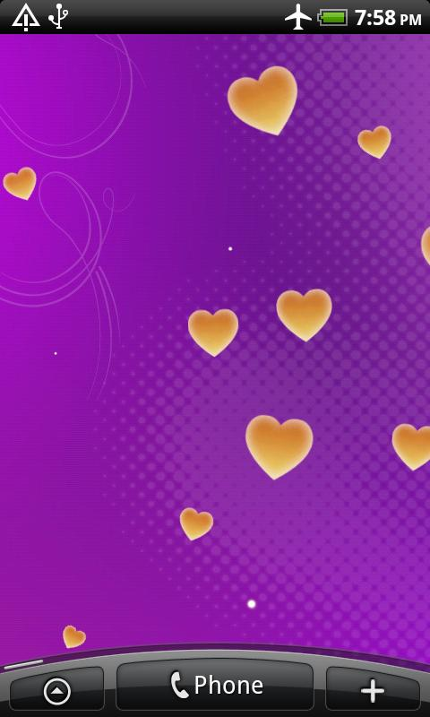 Hearts Live Wallpaper Android Personalization