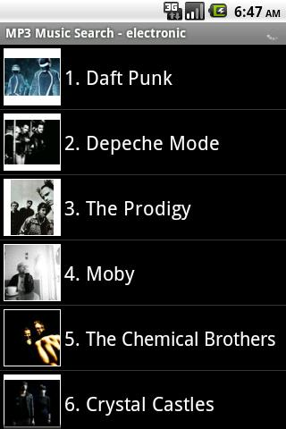 MP3 Music Search Android Entertainment