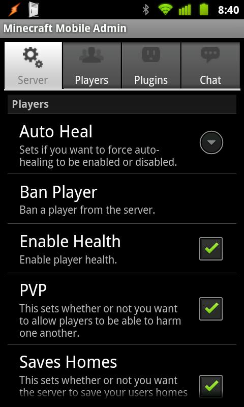 Minecraft Mobile Admin (Free) Android Tools
