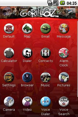 Gorillaz Theme Android Personalization