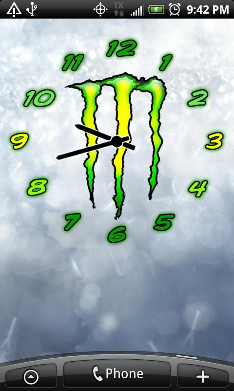 Monster Energy Clock Widgets Android Personalization