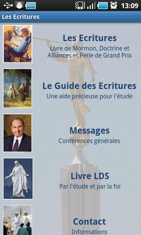 Les Ecritures SDJ – LDS Android Books & Reference