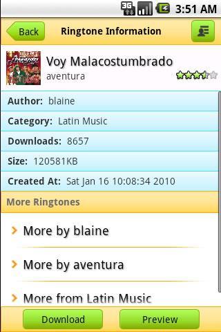 Aventura Ringtone Android Entertainment