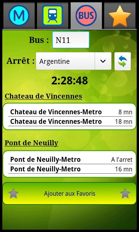 Horaires Me ! Android Travel & Local