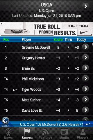Golf Channel Mobile Android Sports