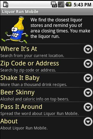 Liquor Run Mobile Android Shopping