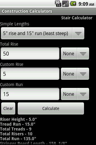 Handy Construction Calculators Android Productivity