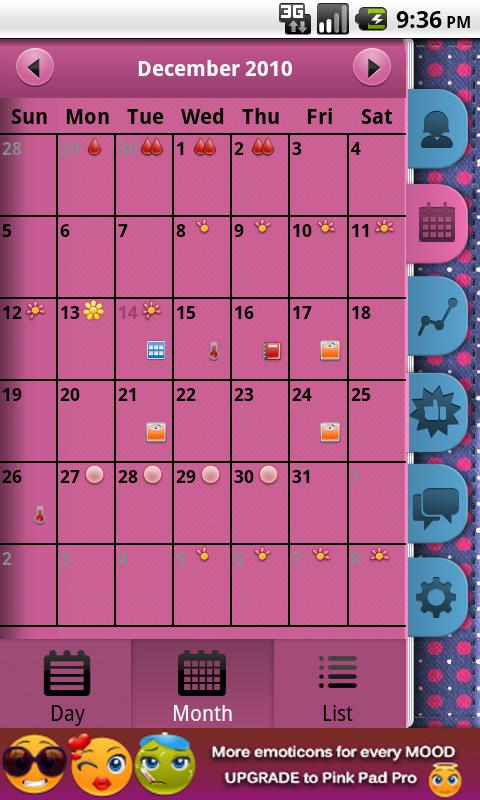 Pink Pad Free (Period Tracker) Android Health & Fitness