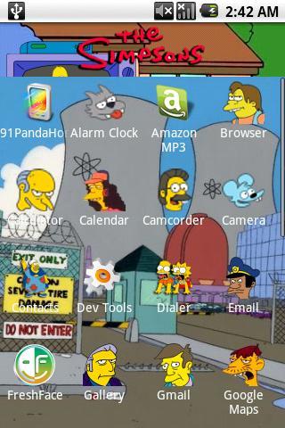 Simpsons Theme Bonus Android Personalization
