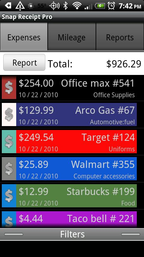 Snap Receipt Pro Android Finance