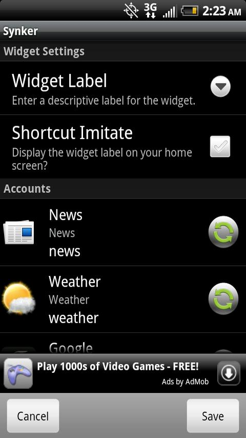 Synker Beta – The Sync Widget Android Productivity