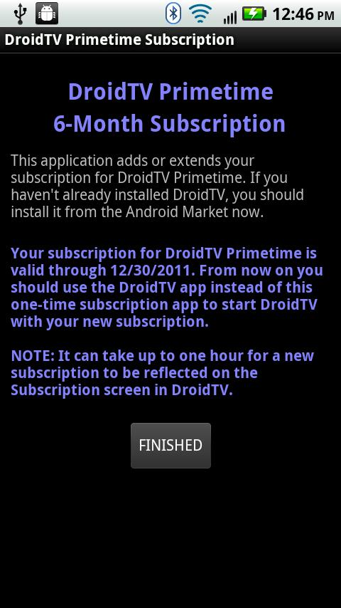 Personal DVR 6-Mon Subscripton Android Entertainment