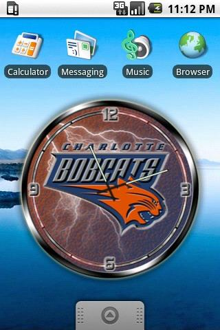 Charlotte Bobcats clock widget Android Personalization