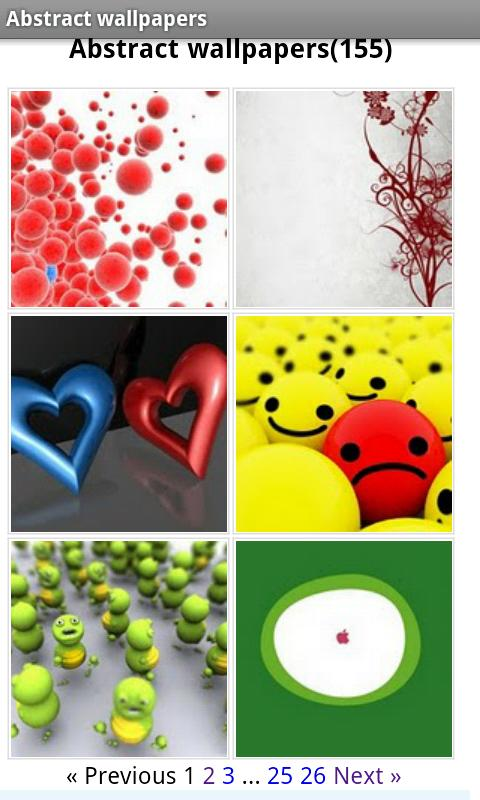 Abstract wallpapers Android Personalization