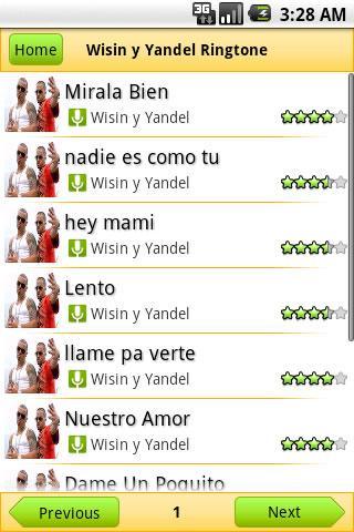 Wisin y Yandel Ringtone Android Entertainment