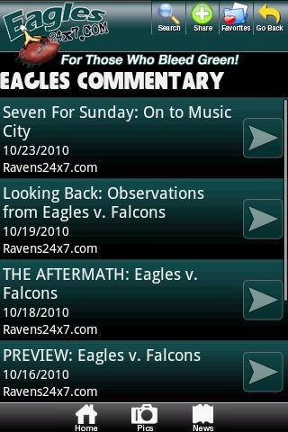 Philadelphia Eagles Fan Zone Android Sports