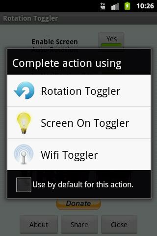 Rotation Toggler Android Tools