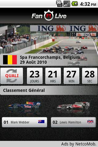 Fan F1 Live Android Sports
