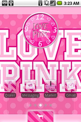 Victoria's Secret Pink Theme Android Personalization