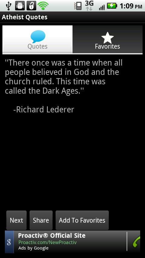 Atheist Quotes Android Entertainment