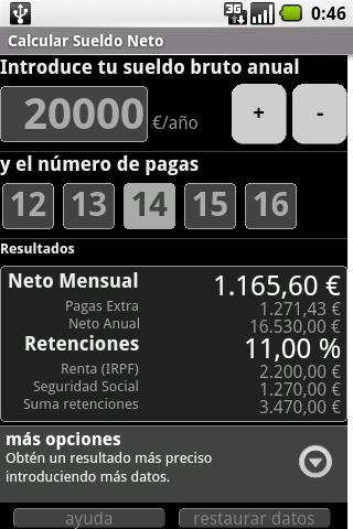Calculate Net Salary Spain Android Lifestyle
