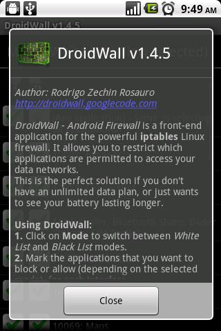 Droidwall 8211 Android Firewall Android Tools Best Android Apps