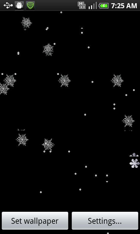 MySnowfall Live Wallpaper-Free Android Personalization