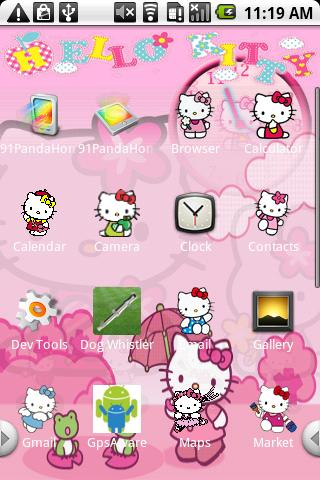 Hello Kitty Theme 2 Android Personalization best android