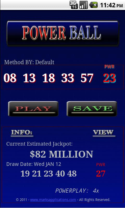 Win The Powerball / Lotto Android Finance