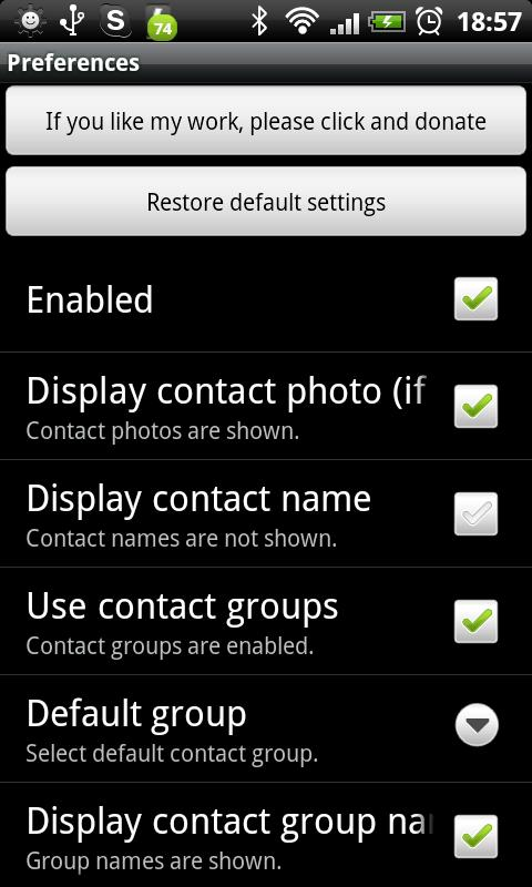 LiveView ContactCall Plugin Android Communication