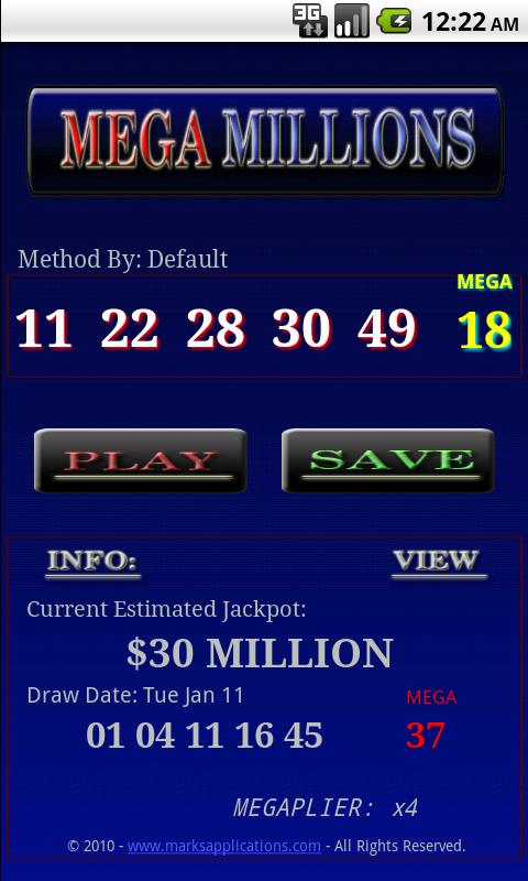 Win The MegaMillions / lottery Android Entertainment