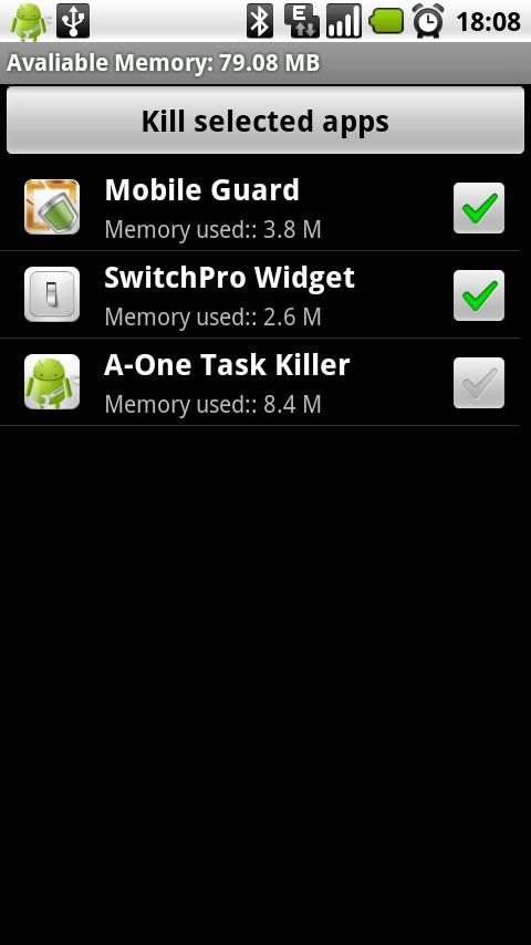 ACE Task Killer Android Productivity