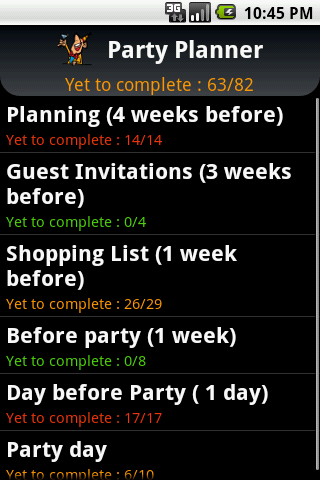Party Planner Android Lifestyle