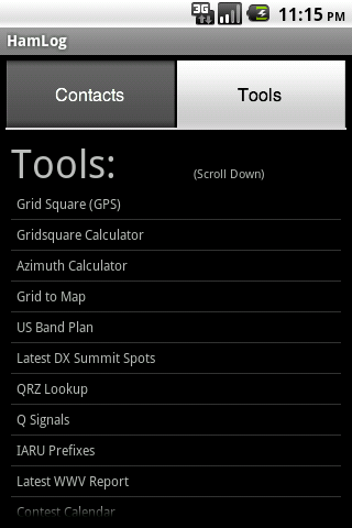 HamLog is an amateur radio logging and tool app. ADIF Export.